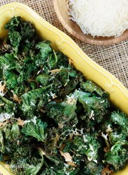 Baked Kale Chips with Parmesan