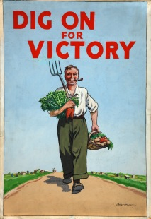 Poster from the Dig for Victory campaign launched in the U.K during World War II