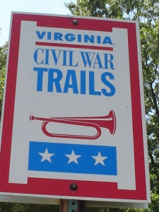 Civil War Trails sign in Shelby
