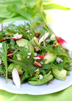 Baby Kale, Avocado and Radish salad, see the recipe